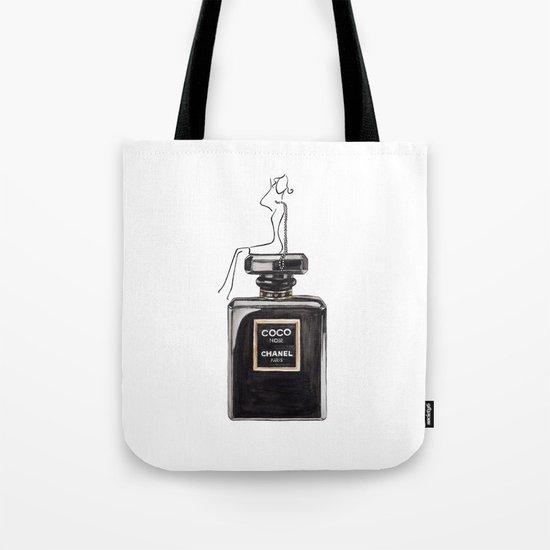 Black Parfum Tote Bag