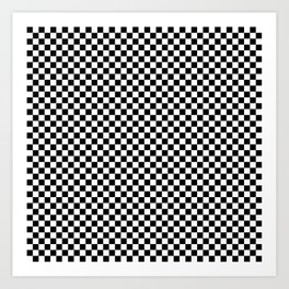 Black and White Checkered Pattern Art Print