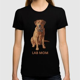 Lab Mom Fox Red Yellow Labrador Retriever Dog T-shirt