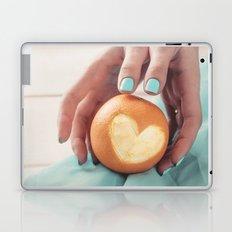 Orange Heart Laptop & iPad Skin