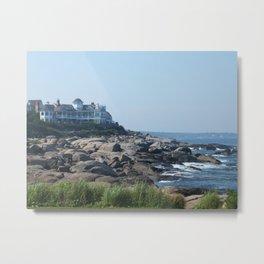 Nubble Lighthouse Maine Beach Metal Print