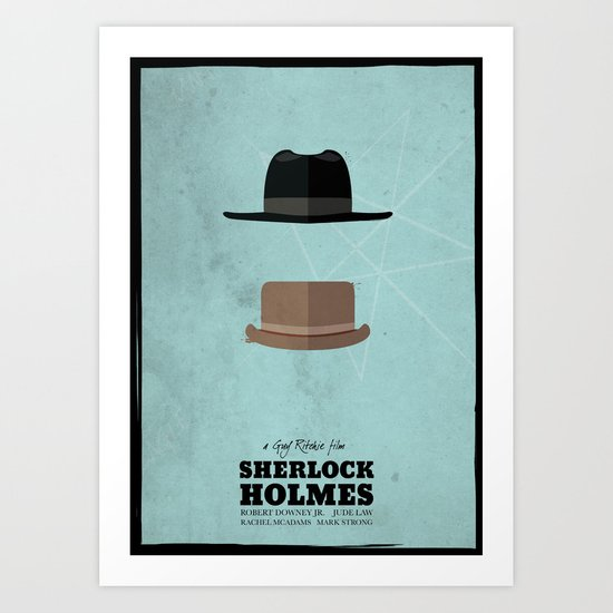 Sherlock Holmes (2009) - minimal poster Art Print