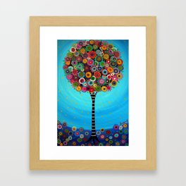 Tree of Life by Pristine Cartera Turkus Framed Art Print