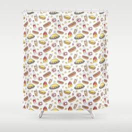 Skyline Chili Pattern Color Shower Curtain
