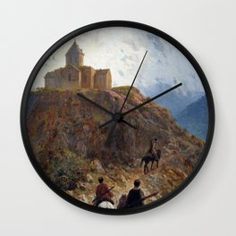Caucasian View 1889 By Lev Lagorio | Reproduction | Russian Romanticism Painter Wall Clock