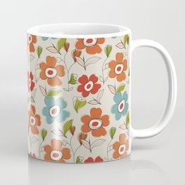 Graphic flowers:Royal orange Coffee Mug