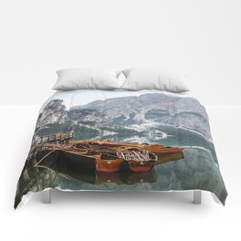 Day at the Mountain Lake Comforters