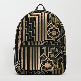 Art Nouveau Metallic design Backpack