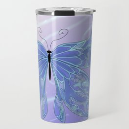 Butterfly Blue Travel Mug