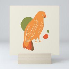 Quirky Australian King Parrot Mini Art Print