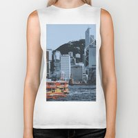 hong kong Biker Tanks featuring Star Ferry Hong Kong by Phil Smyth