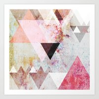 yellow Art Prints featuring Graphic 3 by Mareike Böhmer