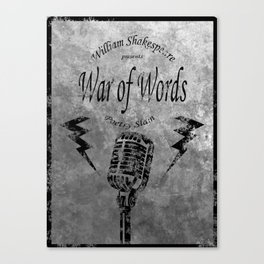 War of Words Canvas Print