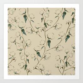 Cotton Bolls Art Print
