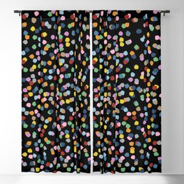 Blossom Petals II Black Blackout Curtain