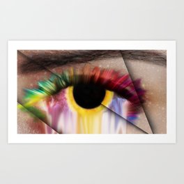 Staring Off Into Space Art Print