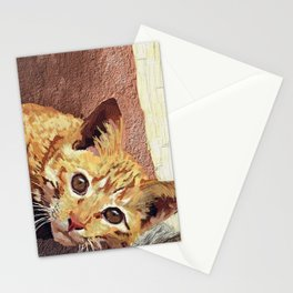 Morning cat Stationery Cards