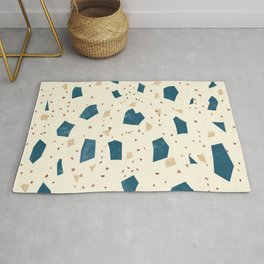Soft Terrazzo - Marble Granite Stone Speckles - Trendy Texture Rug