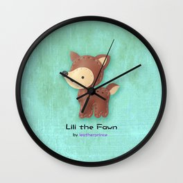 Lili the Fawn by leatherprince Wall Clock