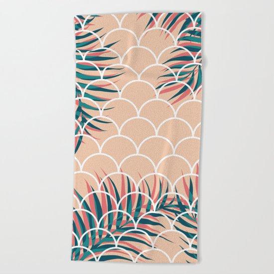 Tropical Window #society6 #decor #buyart Beach Towel