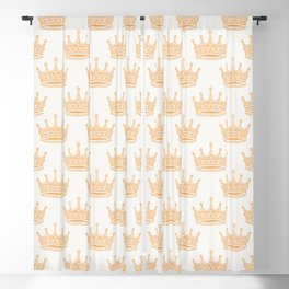 Always Wear Your Invisible Crown Quote - Orange Blackout Curtain