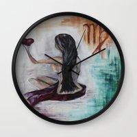 virgo Wall Clocks featuring Virgo by sladja