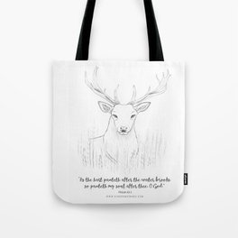 Psalm 42:1 Stag Tote Bag