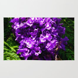 Purple Bell Flowers by Jeronimo Rubio Photography 2016 Rug