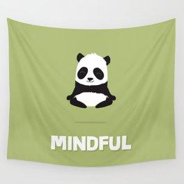 Mindful panda levitating Wall Tapestry