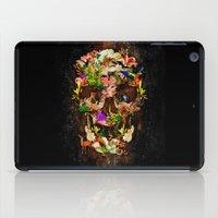 animal skull iPad Cases featuring Floral Flower animal skull kingdom by KomarWork