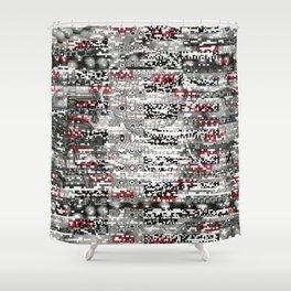 Ambulance Chaser (P/D3 Glitch Collage Studies) Shower Curtain