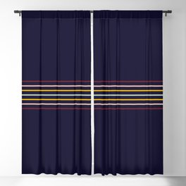 Thin Classic Retro Lines Blackout Curtain