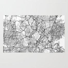 Kuala Lumpur Map White Rug