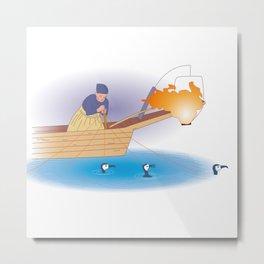 Japanese Cormorant fishing Metal Print