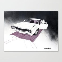 1966 Muscle Car Front End Sketch Canvas Print