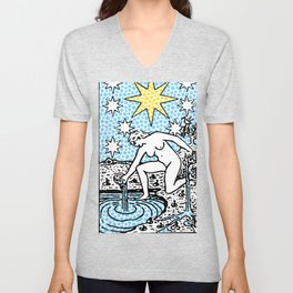 Modern Tarot - 17 The Star Unisex V-Neck