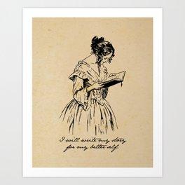 Write my Story - Elizabeth Barrett Browning Art Print