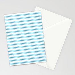Oktoberfest Bavarian Blue and White Large Mattress Ticking Stripes Stationery Cards