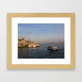 Bosphorus from Galata Bridge Framed Art Print