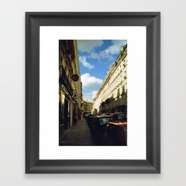 Paris in 35mm Film: Rue Malher in Le Marais Framed Art Print