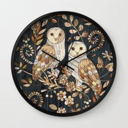 Wooden Wonderland Barn Owl Collage Wall Clock