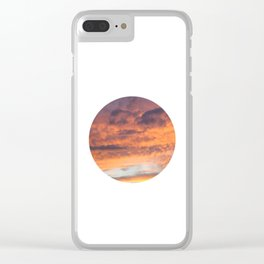 Berkshire Sunset II circle Clear iPhone Case