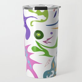 My pieces of invisible worlds Travel Mug