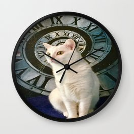 The mysterious kitty Tyche Wall Clock