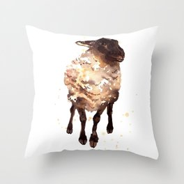 Silly Ewe Throw Pillow