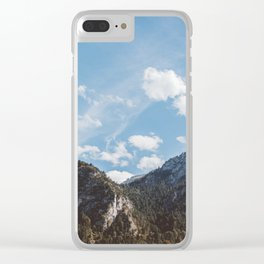 Mountains in the background XXIV Clear iPhone Case