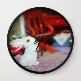 Magic White Rabbit Wall Clock