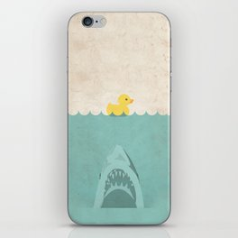Jaws Rubber Duck Quack  iPhone Skin