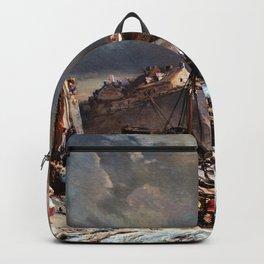 Approaching Storm - Eugene Isabey Backpack