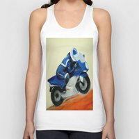 motorbike Tank Tops featuring Art, painting, illustration, motorbike by WhitePanther